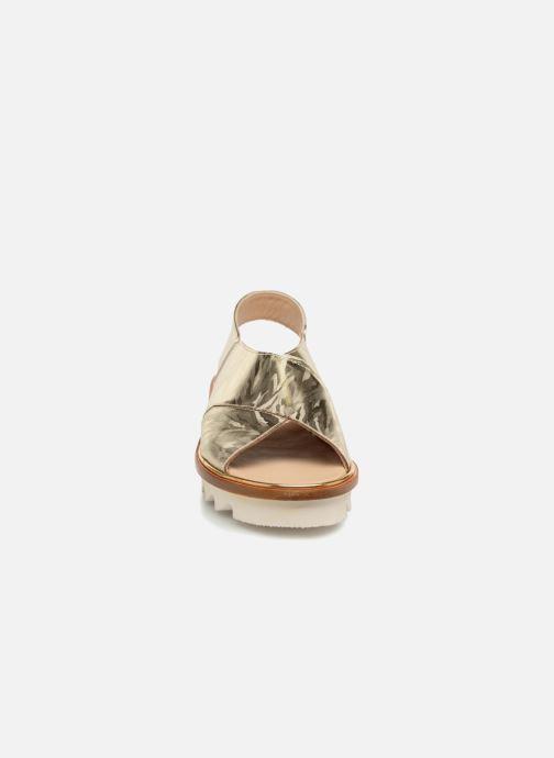 Sandales et nu-pieds MAURICE manufacture Lizan version 3 Or et bronze vue portées chaussures