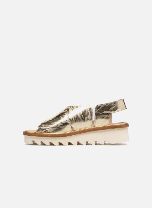 Sandales et nu-pieds MAURICE manufacture Lizan version 3 Or et bronze vue face