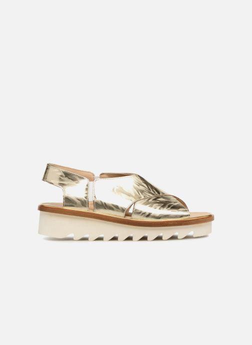 Sandales et nu-pieds MAURICE manufacture Lizan version 3 Or et bronze vue derrière