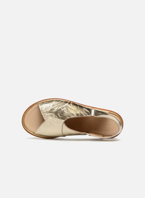 Sandales et nu-pieds MAURICE manufacture Lizan version 3 Or et bronze vue gauche