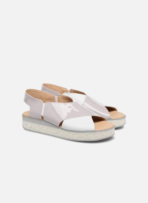 Sandales et nu-pieds MAURICE manufacture Lizia version 1 Gris vue 3/4