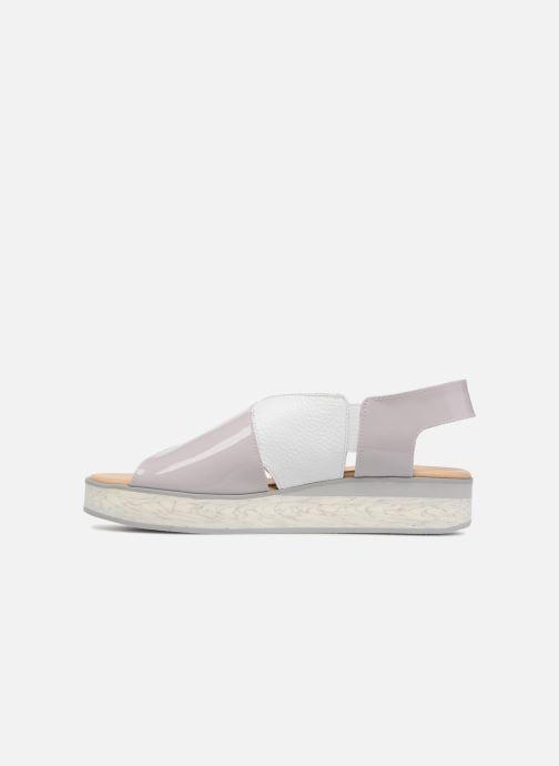 Sandales et nu-pieds MAURICE manufacture Lizia version 1 Gris vue face