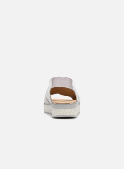 Sandales et nu-pieds MAURICE manufacture Lizia version 1 Gris vue droite