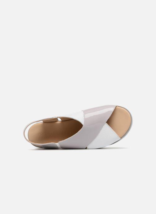 Sandales et nu-pieds MAURICE manufacture Lizia version 1 Gris vue gauche