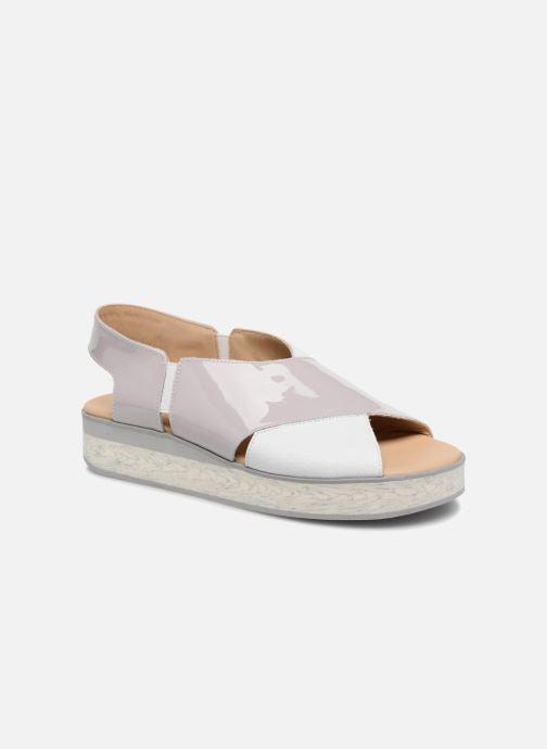 Sandales et nu-pieds MAURICE manufacture Lizia version 1 Gris vue détail/paire