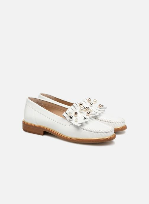 Loafers MAURICE manufacture Hansela version 1 White 3/4 view