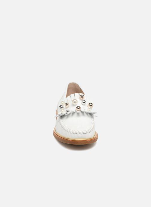 Mocassins MAURICE manufacture Hansela version 1 Blanc vue portées chaussures