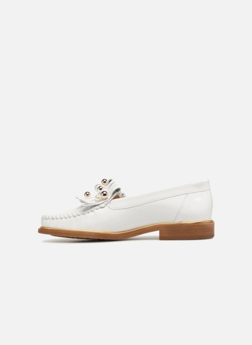 Loafers MAURICE manufacture Hansela version 1 White front view