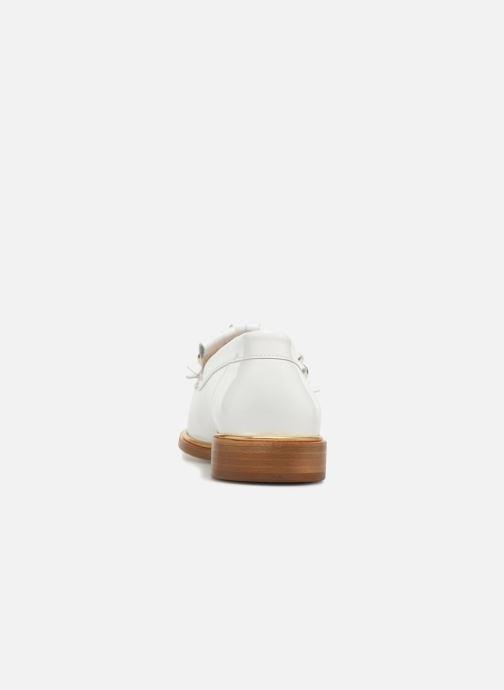 Mocassins MAURICE manufacture Hansela version 1 Blanc vue droite