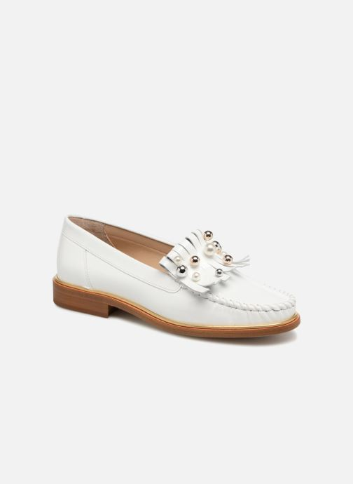 Loafers MAURICE manufacture Hansela version 1 White detailed view/ Pair view