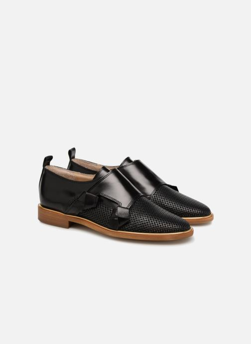 Loafers MAURICE manufacture Jeff version 2 Black 3/4 view