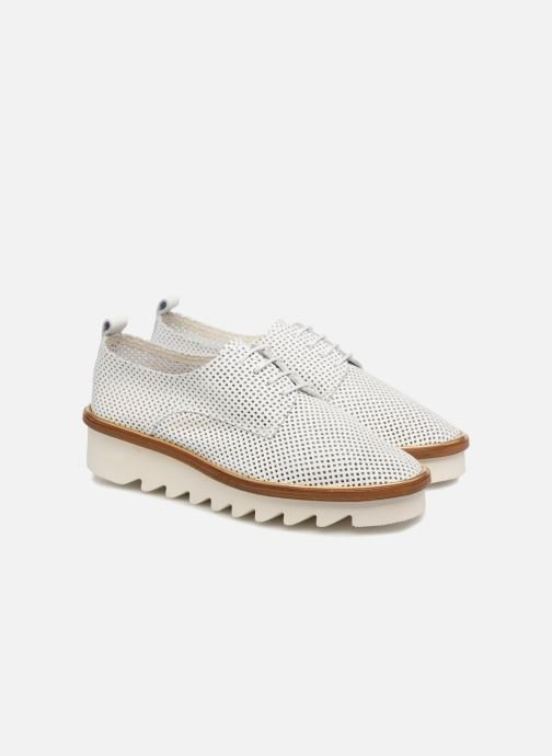 Chaussures à lacets MAURICE manufacture Shum version 1 Blanc vue 3/4