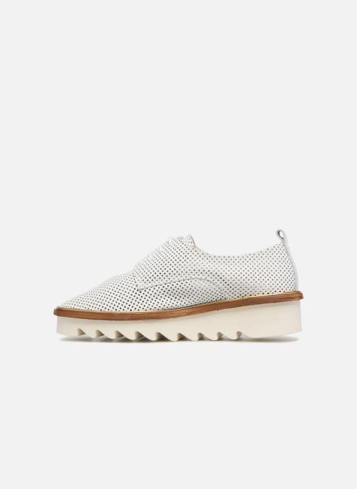 Chaussures à lacets MAURICE manufacture Shum version 1 Blanc vue face