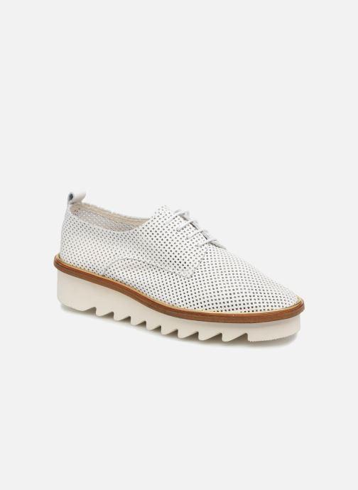 Chaussures à lacets MAURICE manufacture Shum version 1 Blanc vue détail/paire
