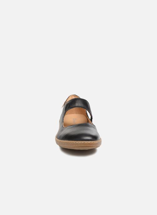 Ballerines El Naturalista Coral N5301 Noir vue portées chaussures