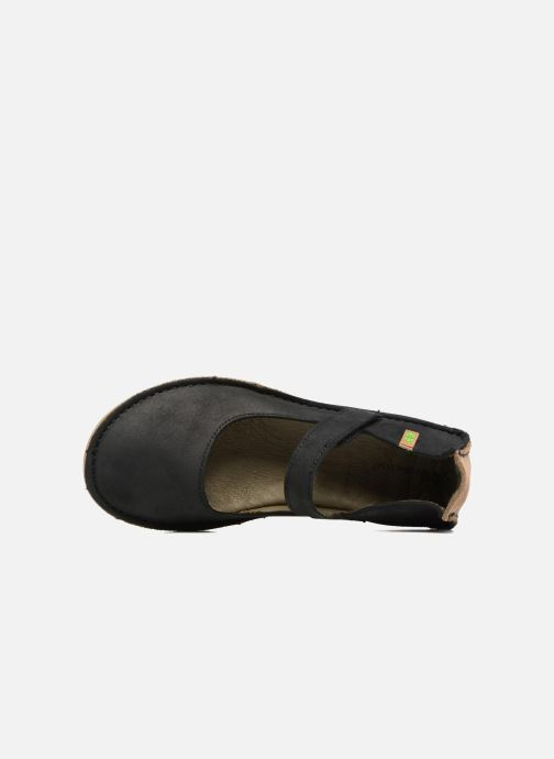 Ballet pumps El Naturalista Ricefied N5041 Black view from the left