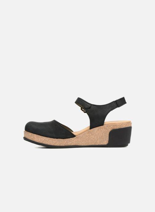 Sandales et nu-pieds El Naturalista Leaves N5001 Noir vue face
