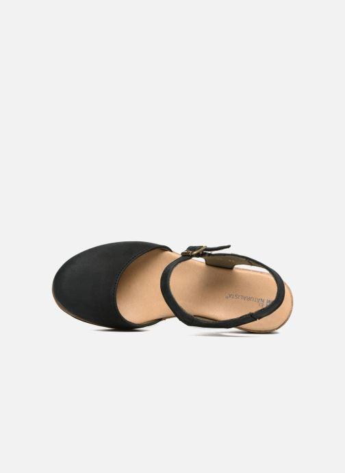 Sandales et nu-pieds El Naturalista Leaves N5001 Noir vue gauche