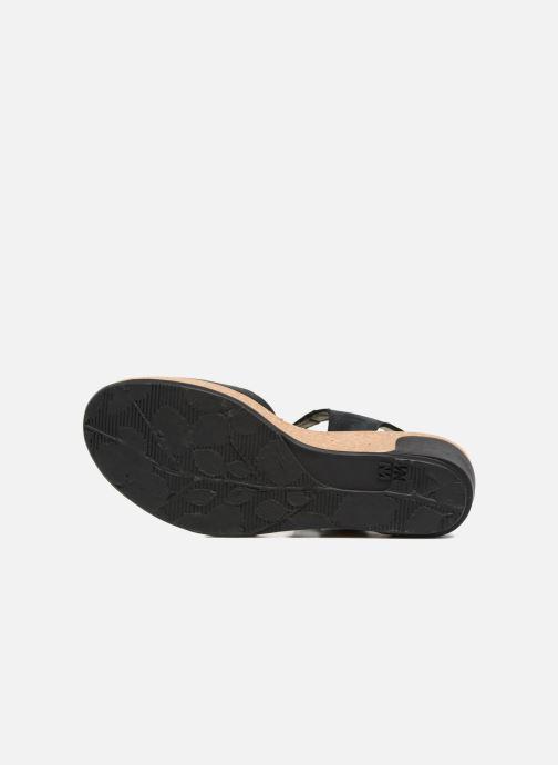 Sandales et nu-pieds El Naturalista Leaves N5001 Noir vue haut