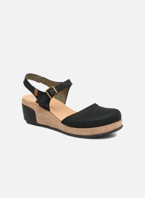Sandales et nu-pieds El Naturalista Leaves N5001 Noir vue détail/paire