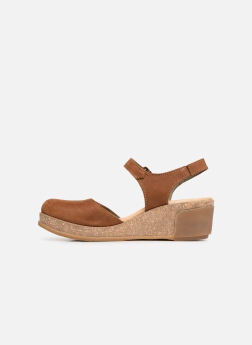 Sandales et nu-pieds El Naturalista Leaves N5001 Marron vue face
