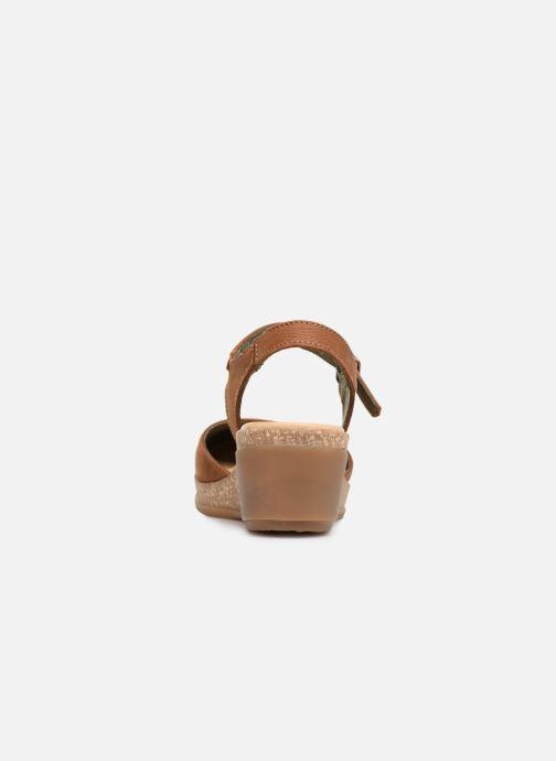 Sandales et nu-pieds El Naturalista Leaves N5001 Marron vue droite