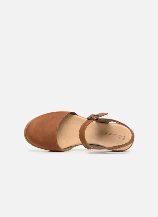 Sandales et nu-pieds El Naturalista Leaves N5001 Marron vue gauche