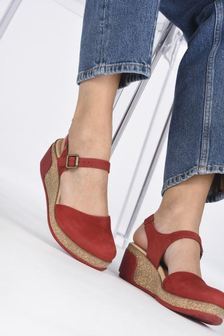 Sandales et nu-pieds El Naturalista Leaves N5001 Rouge vue bas / vue portée sac