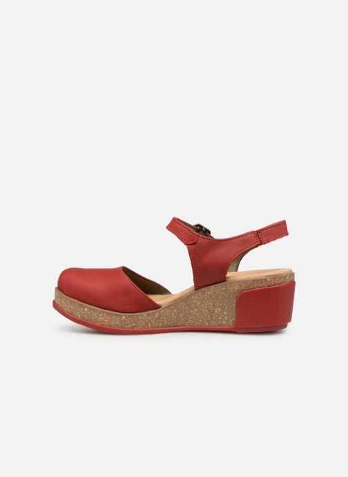 Sandals El Naturalista Leaves N5001 Red front view