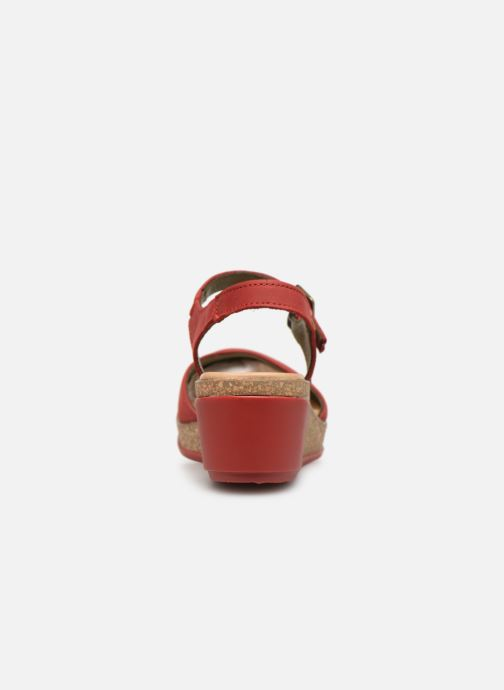 Sandals El Naturalista Leaves N5001 Red view from the right