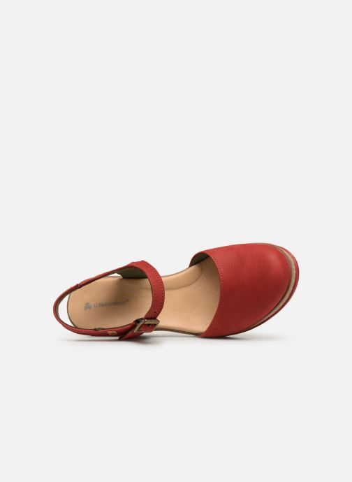 Sandals El Naturalista Leaves N5001 Red view from the left