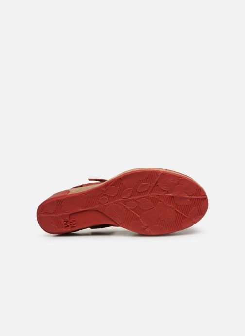 Sandals El Naturalista Leaves N5001 Red view from above