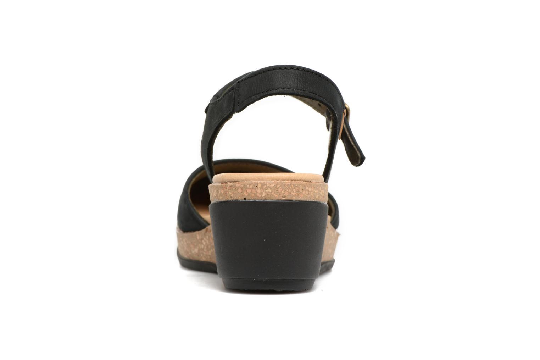 Sandales et nu-pieds El Naturalista Leaves N5001 Noir vue droite
