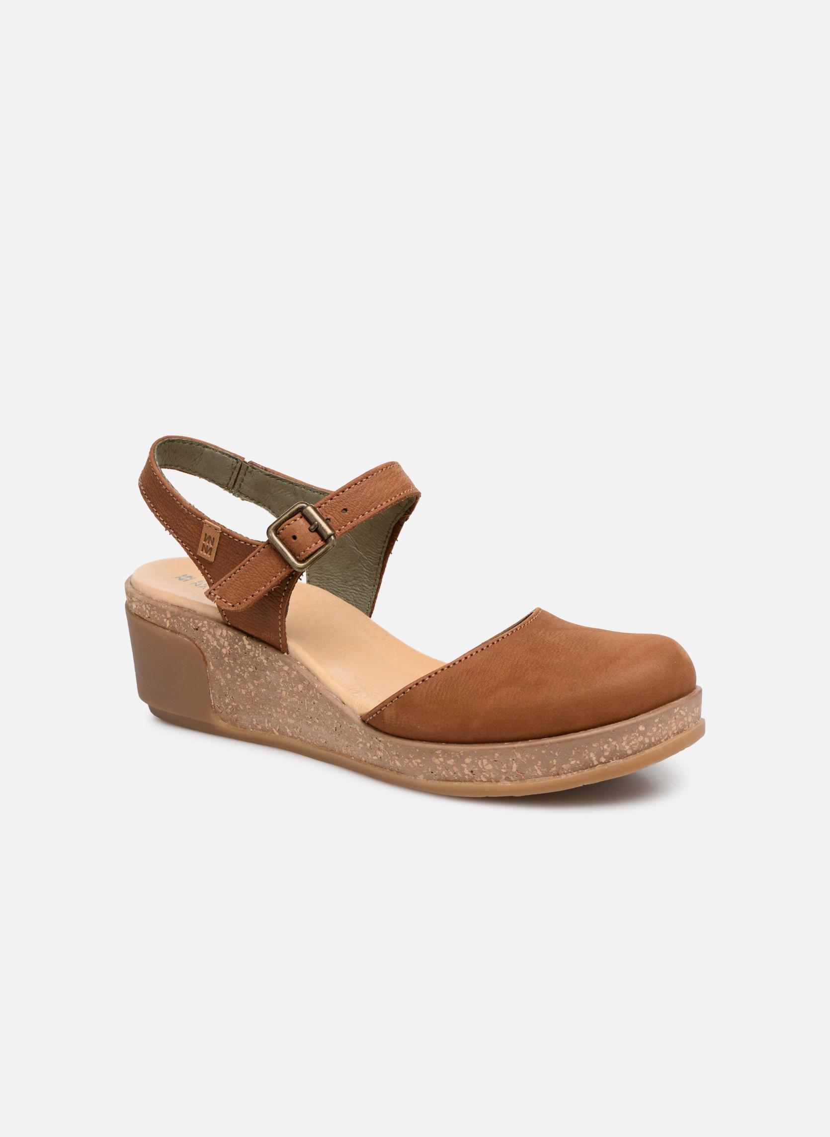 Sandales et nu-pieds El Naturalista Leaves N5001 Marron vue détail/paire