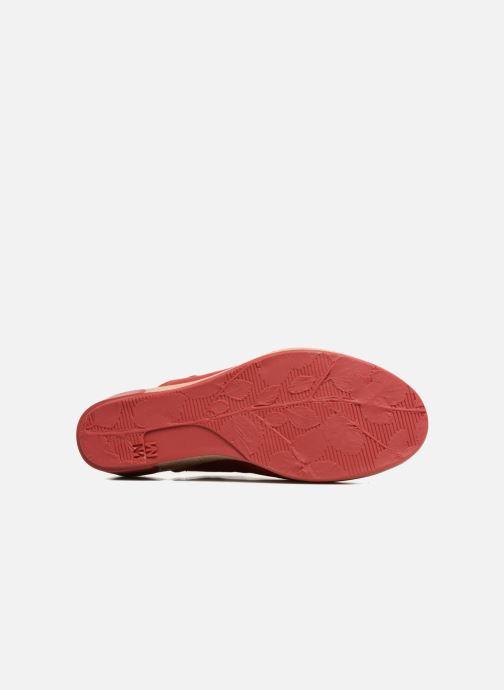 Mules et sabots El Naturalista Leaves N5005 Rouge vue haut