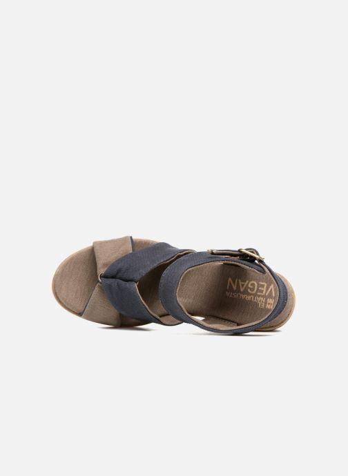 Sandales et nu-pieds El Naturalista Leaves N5007T Bleu vue gauche