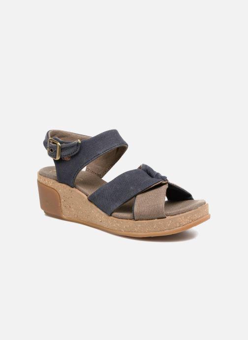 Sandales et nu-pieds El Naturalista Leaves N5007T Bleu vue détail/paire