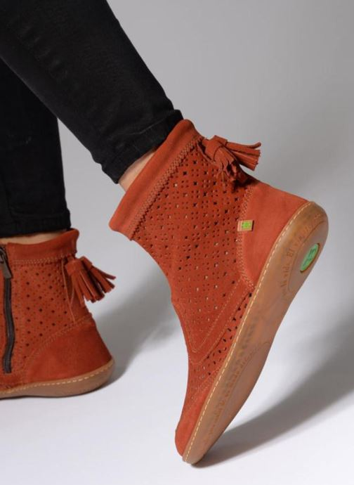 Bottines et boots El Naturalista El Viajero N262 Rouge vue bas / vue portée sac