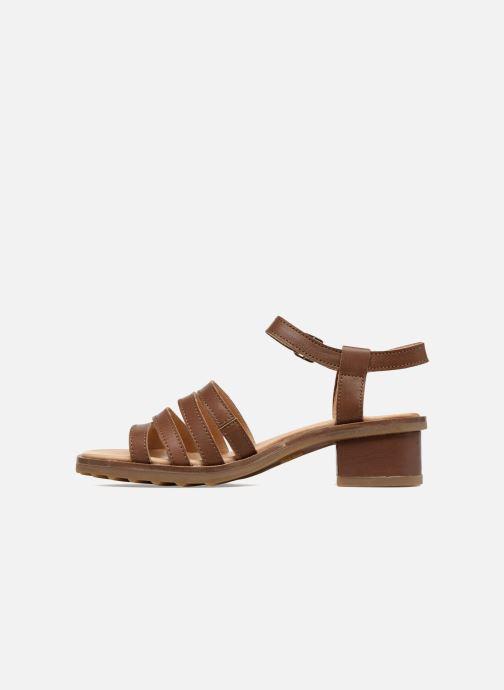 Sandales et nu-pieds El Naturalista Sabal N5016 Marron vue face