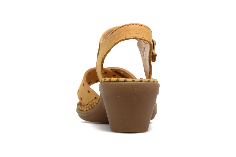 Sandales et nu-pieds El Naturalista Aqua N5325 Jaune vue droite