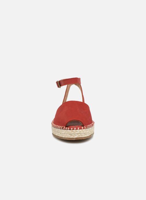 Scarpe di corda El Naturalista Mariné N5343 Rosso modello indossato