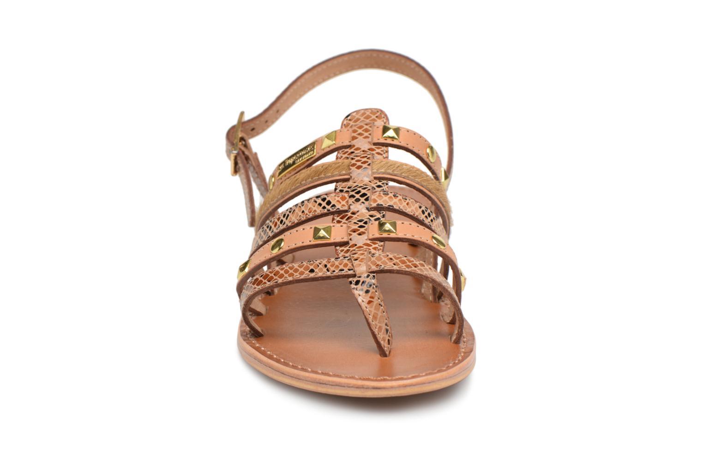 Sandales et nu-pieds Les Tropéziennes par M Belarbi Herclou Marron vue portées chaussures