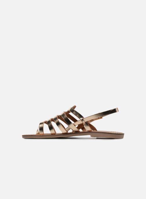 Sandals Les Tropéziennes par M Belarbi Herilo Bronze and Gold front view