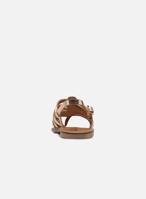 Sandals Les Tropéziennes par M Belarbi Herilo Bronze and Gold view from the right