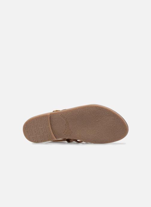 Sandals Les Tropéziennes par M Belarbi Herilo Bronze and Gold view from above