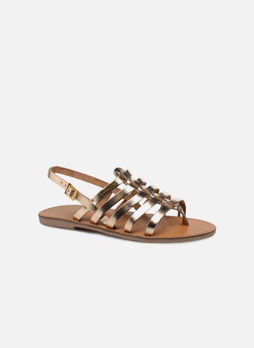 Sandals Les Tropéziennes par M Belarbi Herilo Bronze and Gold detailed view/ Pair view