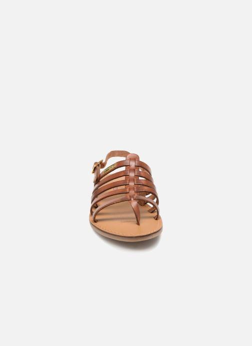Sandales et nu-pieds Les Tropéziennes par M Belarbi Herilo Marron vue portées chaussures