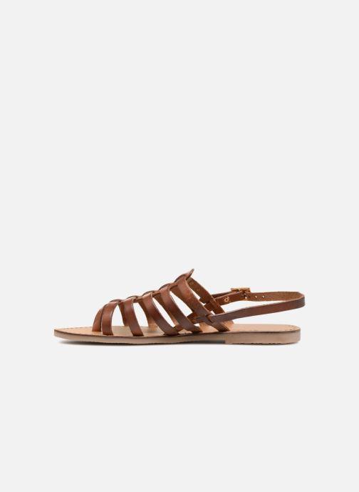Sandales et nu-pieds Les Tropéziennes par M Belarbi Herilo Marron vue face