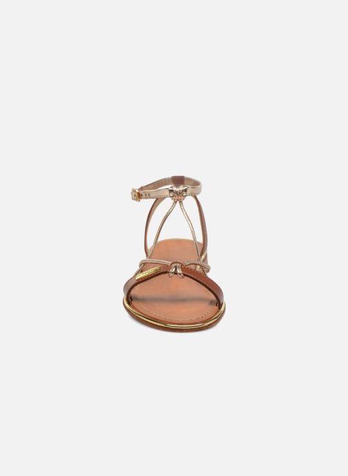 Sandales et nu-pieds Les Tropéziennes par M Belarbi Hirondel Marron vue portées chaussures