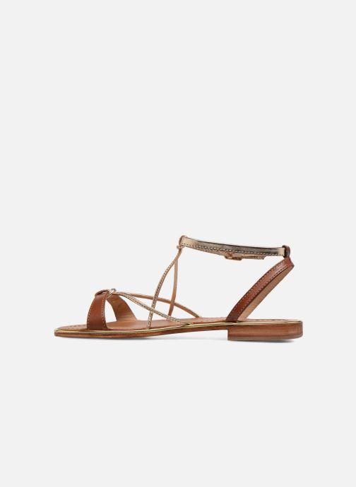 Sandales et nu-pieds Les Tropéziennes par M Belarbi Hirondel Marron vue face